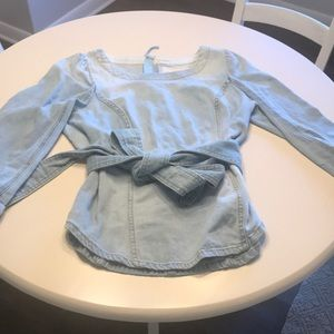 Pilcro Anthropologie Denim Top. Sz 12